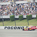 Rossi wins IndyCar race at Pocono/delayed by serious crash